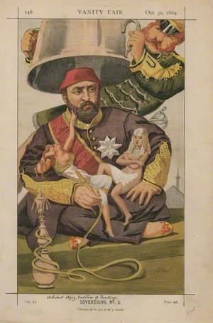 Abdul Aziz, Sultan of Turkey ('Sovereigns. No. 5.' 'Ote-toi de la que je m'y mette.')