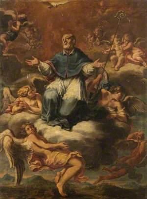 Saint Francis de Sales in Glory (Bishop Ascending to Heaven)