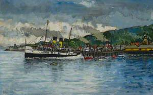 'Jupiter', 'Queen Mary' and 'Jeanie Deans' at Rothesay