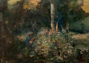 Child amongst Foxgloves