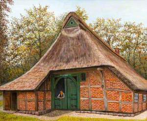 Thatched Brick Building