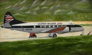Scottish Airways Plane on a Runway