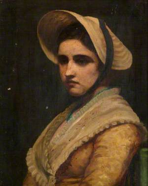 Portrait of a Lady Wearing a Bonnet