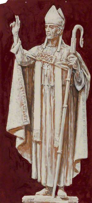 Study for Carving in St Rognvald's Chapel: Bishop William