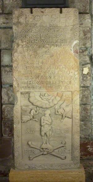 Decoratively Carved Gravestone – James Baikie