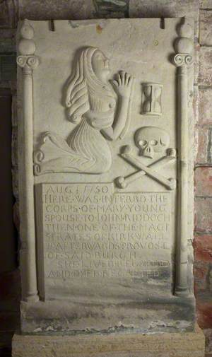 Decoratively Carved Gravestone – Mary Young