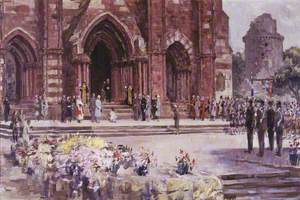 Study for 'HM Queen Elizabeth II outside St Magnus Cathedral'