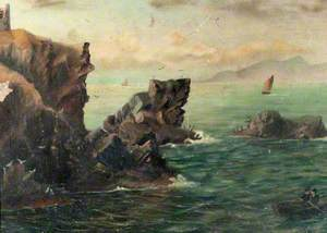 Seascape with Cliffs and a Boat