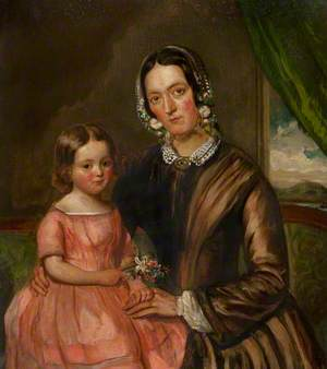 Mrs Ursula Irvine (1814–1895), and Daughter Jessie Irvine (1848–1932)