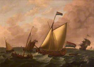 Dutch Ships Going before the Wind