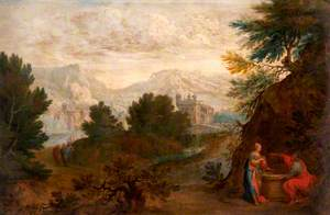 Landscape with Christ and the Woman of Samaria
