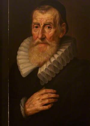 An Old Bearded Man, Wearing a Skull-Cap and a Cartwheel Ruff
