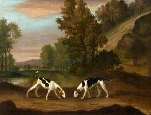 'Mindful' and 'Mischief', a Pair of Hounds
