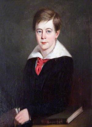 Sir Alexander Palmer Bruce Chichester (1842–1881), 2nd Bt of Arlington, as a Boy