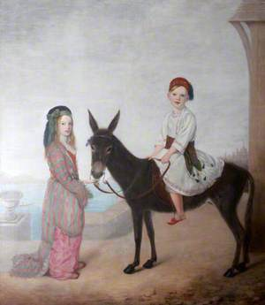Sir Bruce Chichester (1842–1881), 2nd Bt of Arlington, and His Sister, Caroline (1839–1873), Later Lady Clay, as Children