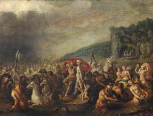 The Triumph of Neptune and Amphitrite, with Figures Feasting in a Distant Cave