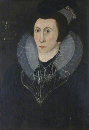 Portrait of an Unknown Elizabethan Lady, Aged 36