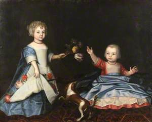 Mary Myddelton (1688–1747), and Sir William Myddelton (1694–1718), 4th Bt, as Children