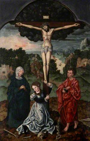 The Crucified Christ, with the Virgin Mary, Saint Mary Magdalene and Saint John the Evangelist, on Golgotha