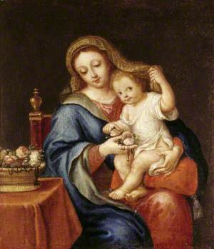 The Madonna and Child with a Basket of Flowers