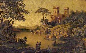 View of an Imaginary Castle with Two Towers