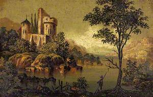 View of an Imaginary Castle with a Round Tower