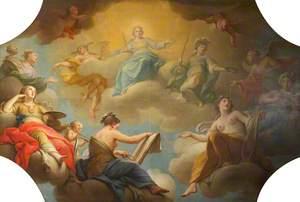 Mercury and Minerva Presiding over the Arts