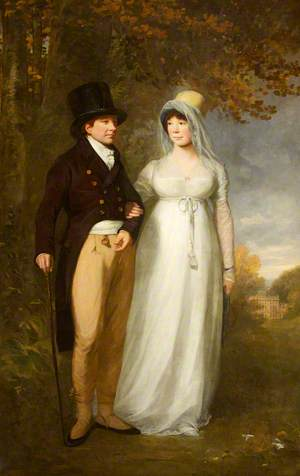 William Blathwayt IV (1751–1806), and His Wife, Frances Scott (d.1844), out Walking