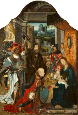 The Dyrham Triptych: The Adoration of the Magi