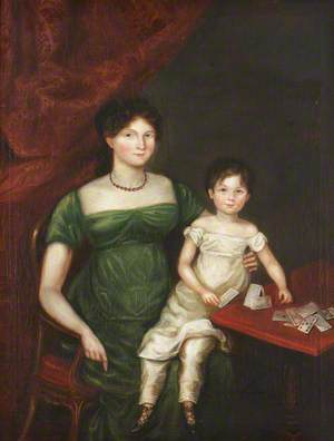 Margaret Holland (1778–1848), Mrs Yorke and Her Son, Simon Yorke III (1811–1894) (?)