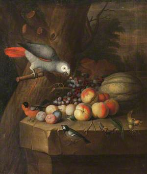 Still Life with a Parrot and Fruit