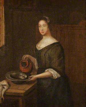 An Interior with a Servant Girl