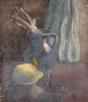 Still Life with a Jug and a Lemon