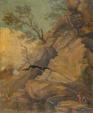 Figures in a Rocky Landscape