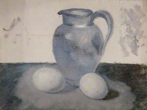 Still Life of a Jug and Two Eggs