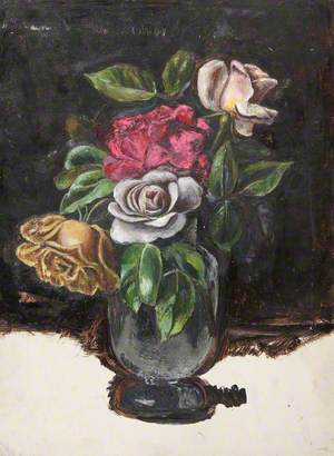 Study of Roses in a Vase