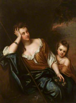 Mrs Voss (d. after 1716), with Her Daughter Catherine (c.1690–1714), Later Mrs James Huckle