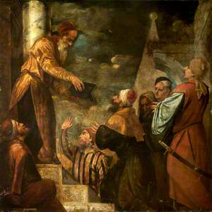 Lycurgus Giving Law to the People