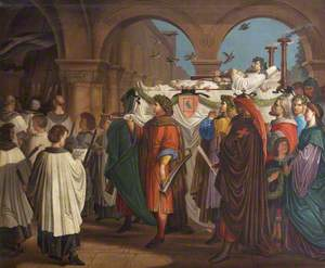 The Funeral of Walther von der Vogelweide (c.1170–c.1230), the Minnesinger