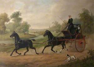 Edmund Wilson (1831–1934), Driving His Tandem