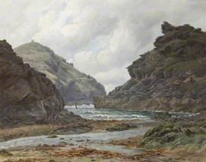 Boscastle Harbour at Low Tide