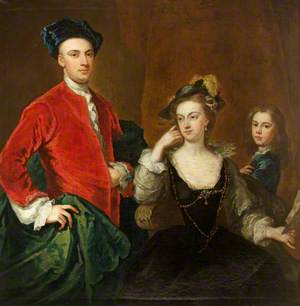 Sharington Davenport (1708–1774), His Wife Gratiana Rodd (d.1773), and His Younger Half-Brother, Later the Reverend William Davenport (1725–1781)