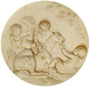 Putti with a Goat: Autumn
