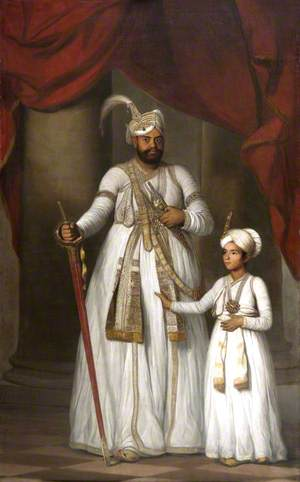 Prince Azim-ud-Daula (1775–1819), Nawab of the Carnatic and His Son Azam Jah (1800–1874)