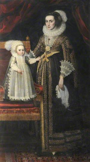 Portrait of an Unknown Lady and Child