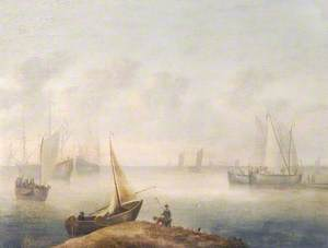 A Coastal View with Shipping