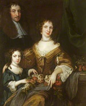 Dr Peter Barwick (1619–1705), His Wife, Anne and Daughter, Mary (1661/1662–1721/1723), Later Lady Dutton