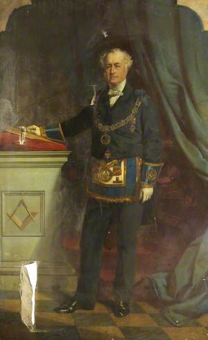 James Henry Legge (1804–1883), 3rd Baron Sherborne in Masonic Robes