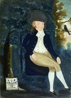 A Gentleman in Breeches Seated in a Landscape