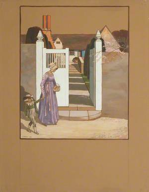 A Woman and Child before the Gates of a House, St Kitts